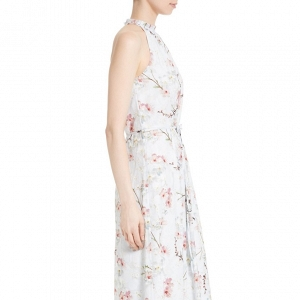 'Elynor' Floral Print Maxi Bridesmaid Dress