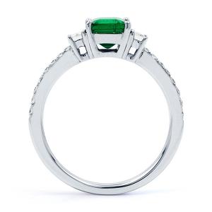 Emerald & Diamond Engagement Ring