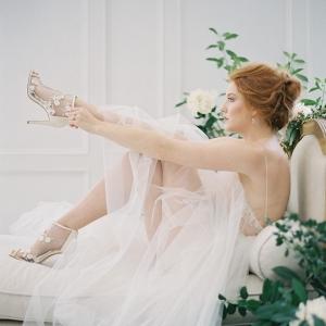 Romantic Bride Getting Ready