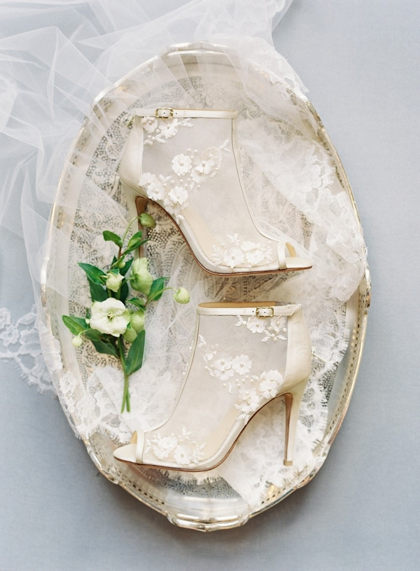 Gold Lace Bridal Shoes