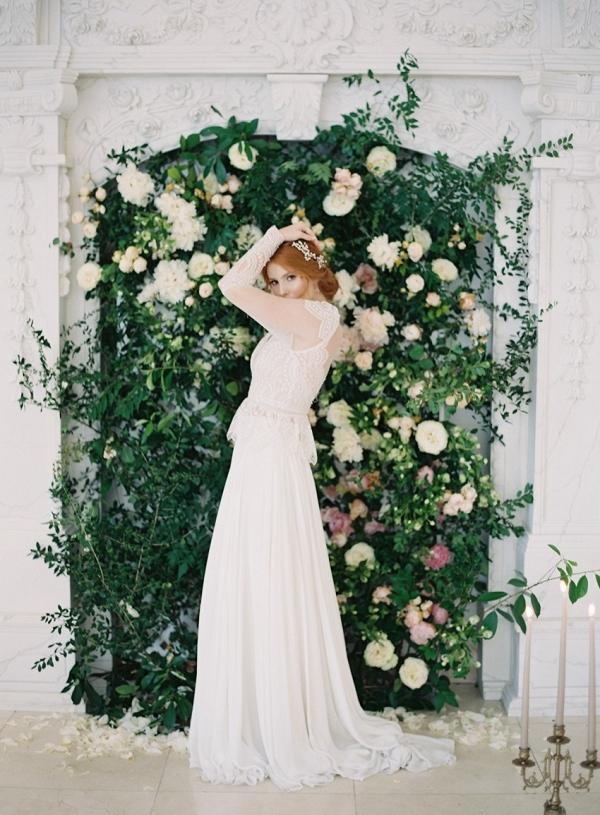 Modern Vintage Bride & Floral Wall