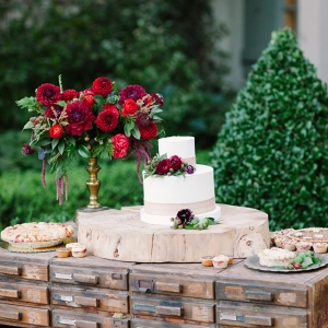 Wedding Cake & Pie Display