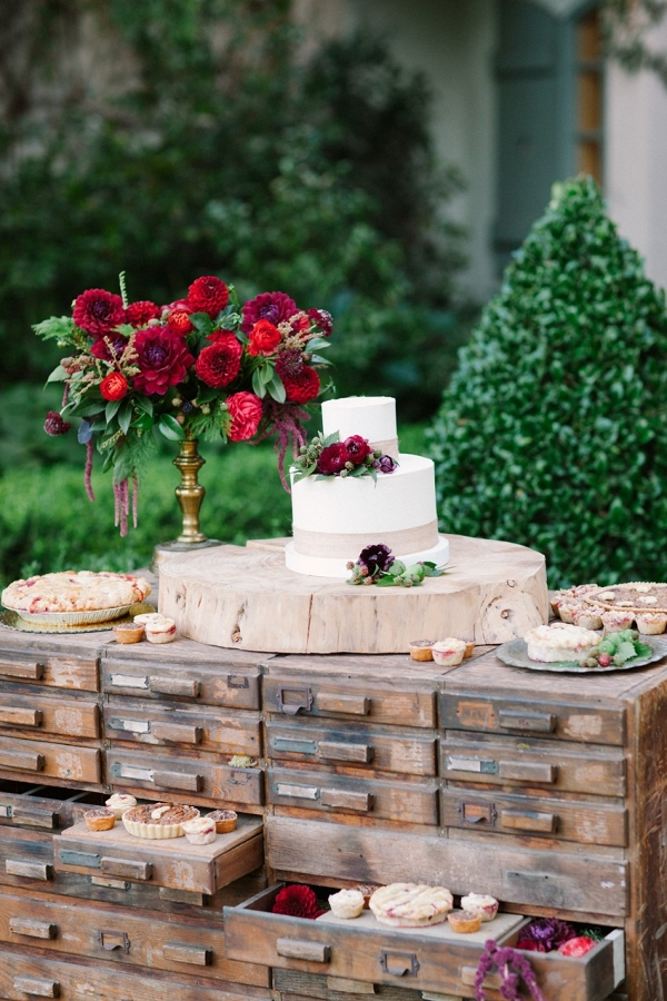 Wedding Cake & Pie Display