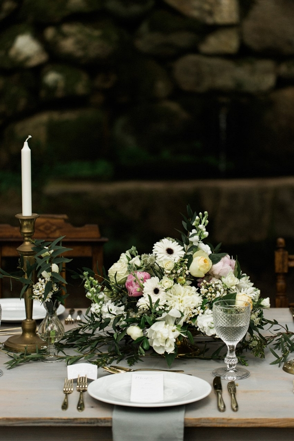 Vintage Elopement Tablescape