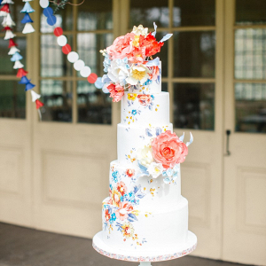 Whimsical floral cake