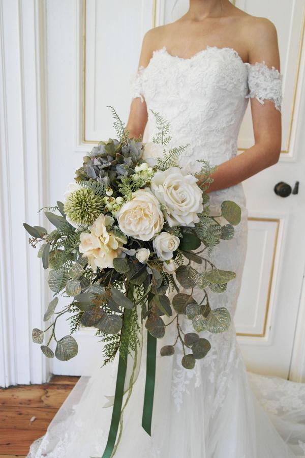 Eucalyptus Bridal Bouquet Aisle Society