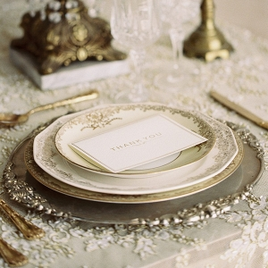 Vintage Gold Wedding Place Setting