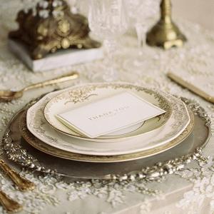 Vintage Gold Wedding Place Setting