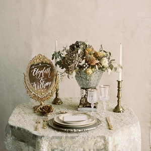 Romantic Gold Wedding Decor