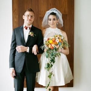 Mid-Century Modern Bride & Groom
