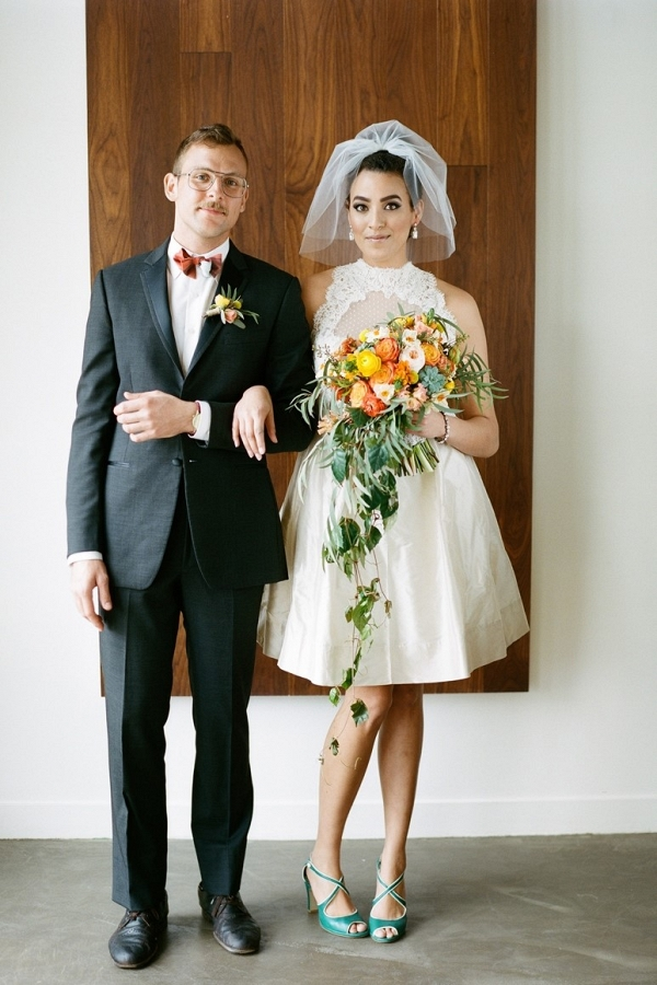 Fabulous Mid-Century Modern Wedding Inspiration - Aisle Society