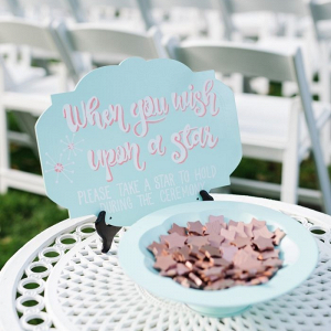 Wish upon a star themed ceremony detail