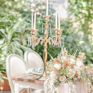 Vintage tablescape with candelabra