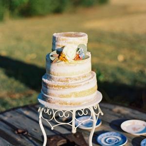 Semi naked wedding cake on Chic Vintage Brides