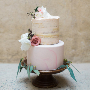 Marble Semi Naked Wedding Cake