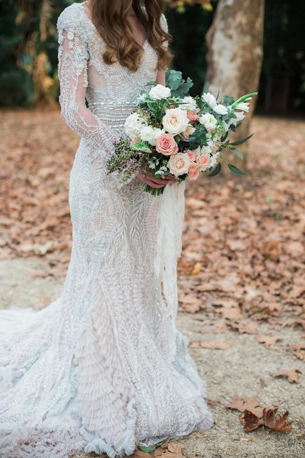 Blush & White Bridal Bouquet