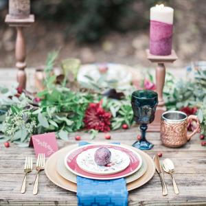 Winter Wedding Place Setting