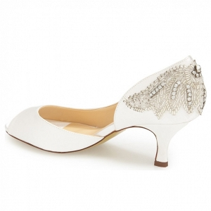 'Finery' Embellished Half d'Orsay Bridal Pump