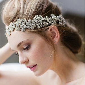 'Fiora' Jeweled Bridal Head Band