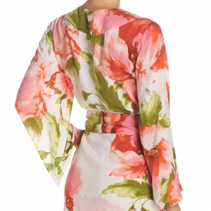Floral Print Bridesmaid Robe