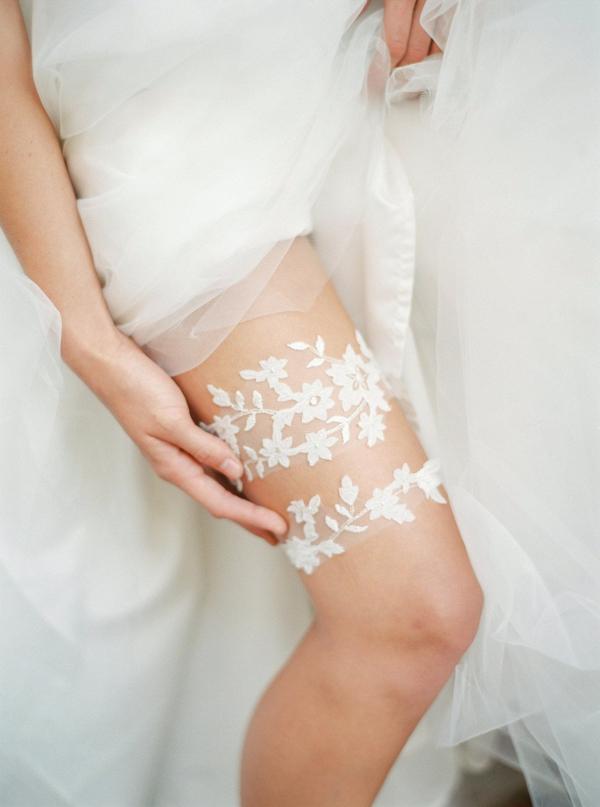 Floral Lace Garter Set