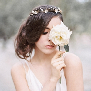 Forget Me Not Flower Bridal Tiara
