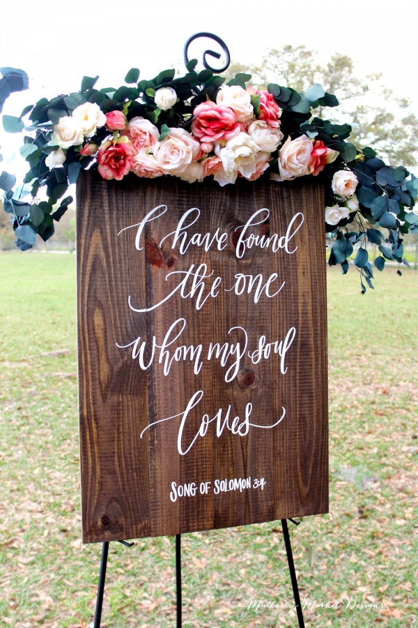I have found the one whom my soul loves sign aisle society rustic wooden calligraphy wedding sign junglespirit Choice Image