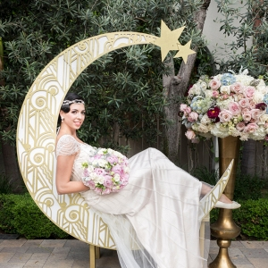 Art Deco Paper Moon Backdrop