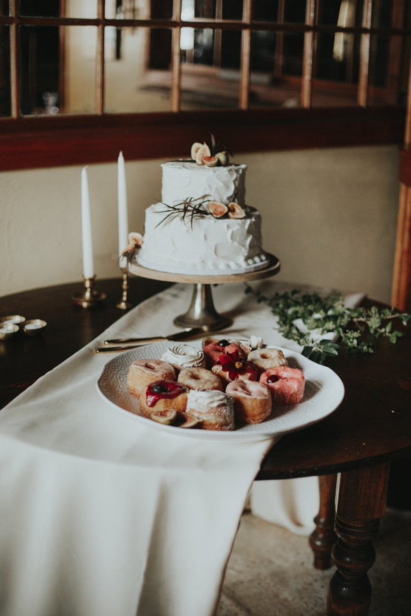 Small buttercream wedding cake