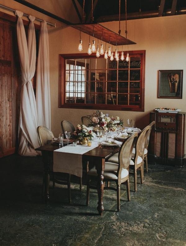 Vintage inspired tablescape