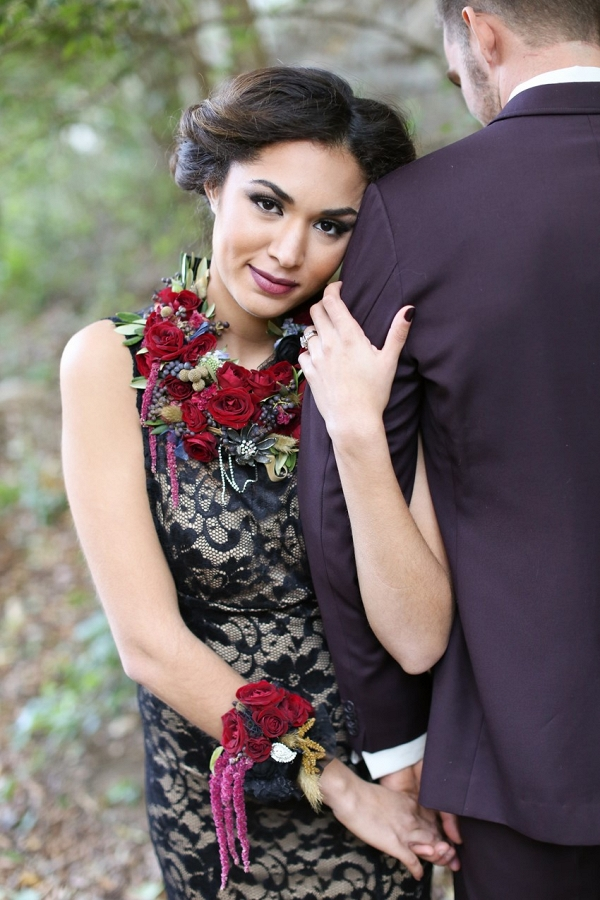 Glamorous & Gothic Halloween Bridal Look