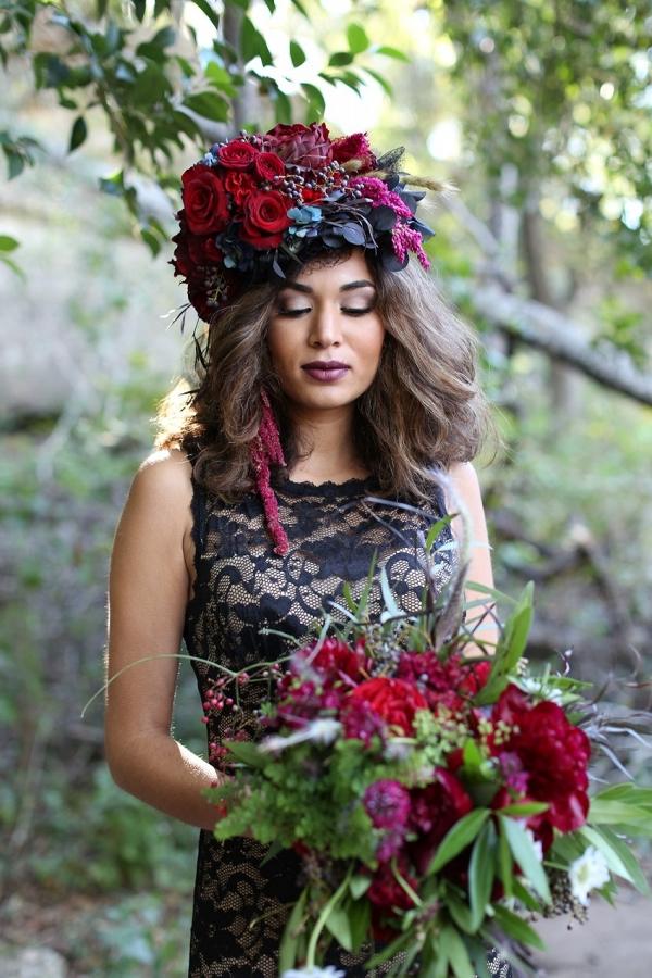 Fall Bridal Flower Crown