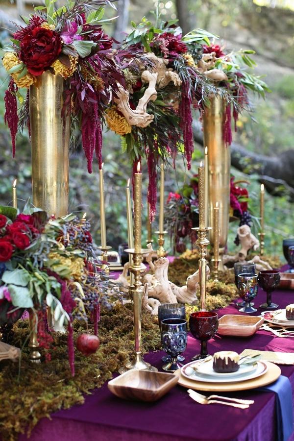 Cascading Tall Floral Centerpieces