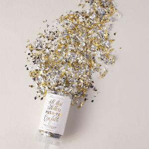 Metallic Glitter Push-Pop Confetti