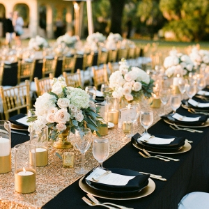 Gold Glitter Sequin Table Runner