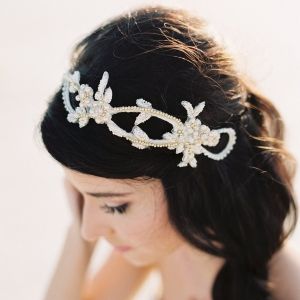 Gold Bridal Headband - Love | Photography - Sarah Joelle Photography