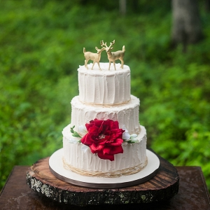 Gold Deer Wedding Cake Toppers