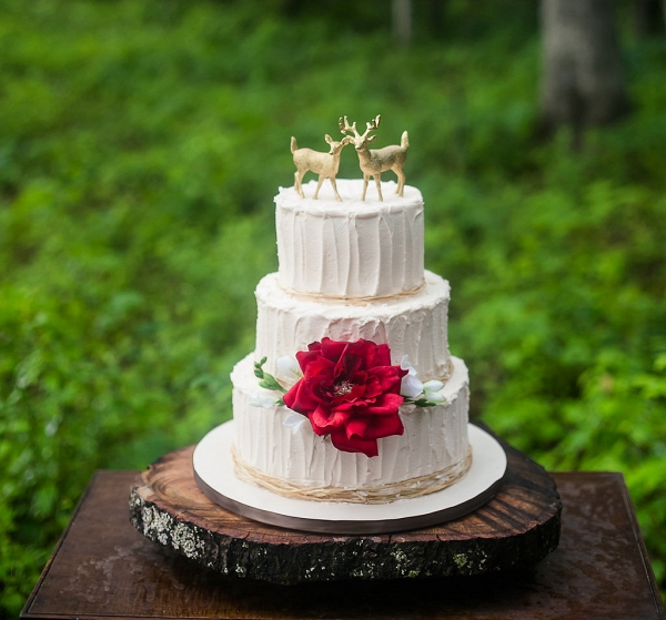 Gold Deer Wedding Cake Toppers