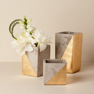 Paradox Gold Dipped Vases