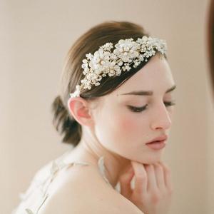 Gold Floral Bridal Crown
