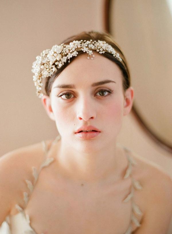 Gold Floral Bridal Tiara