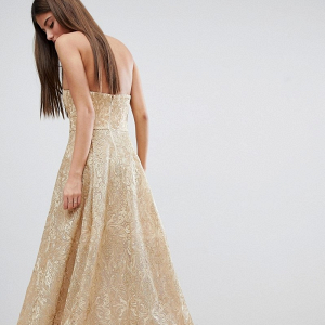 Hi Low Gold Bridesmaid Dress