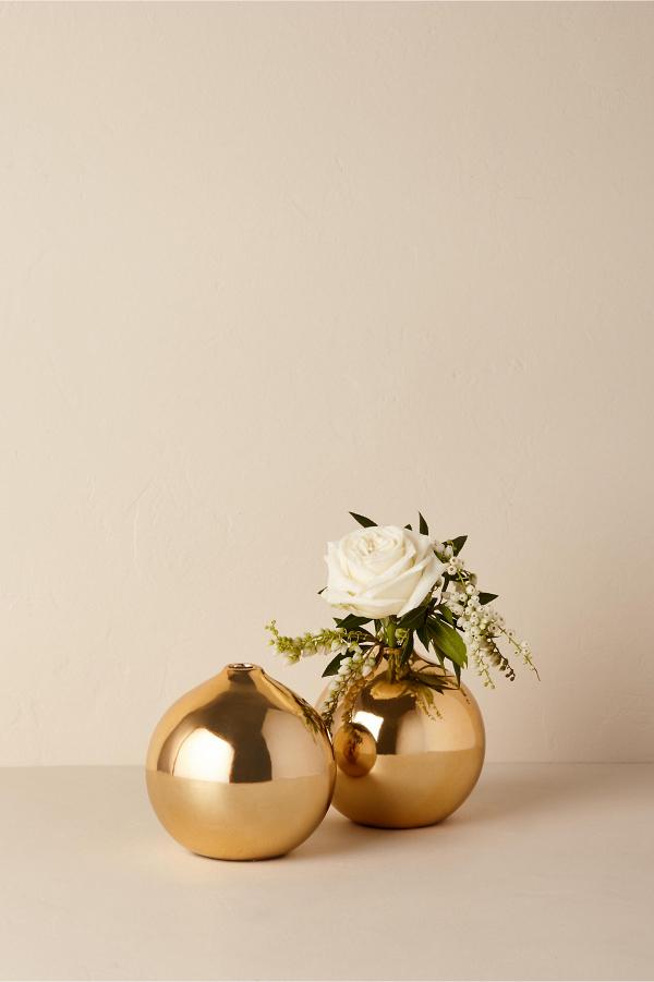 Gold Stoneware Vase