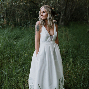 Modern Understated Wedding Dress