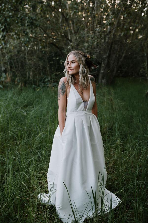 Modern Understated Wedding Dress