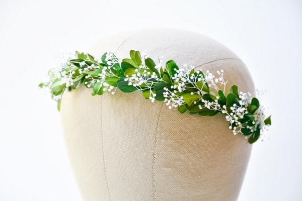 Greenery Bridal Floral Wreath