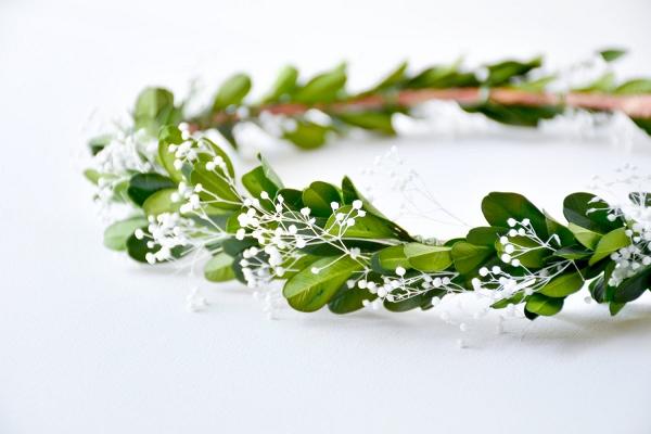 Greenery Bridal Floral Headpiece