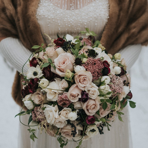 Elegant winter bouquet