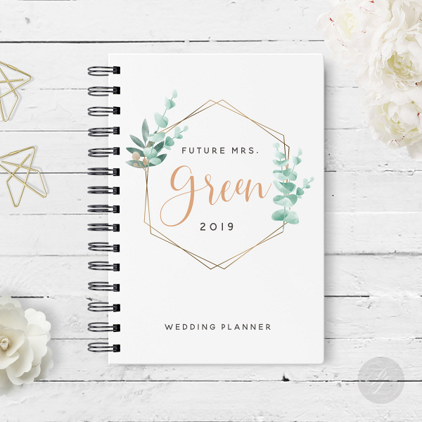 Geometric Greenery Wedding Planner