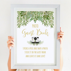 Wedding Photo Guestbook Sign